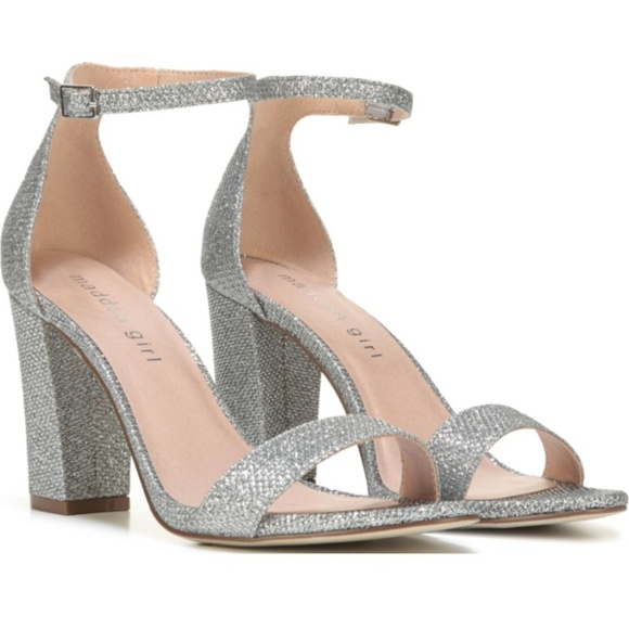 66e0c21e55a New in Box Madden Girl Silver Beella Heels